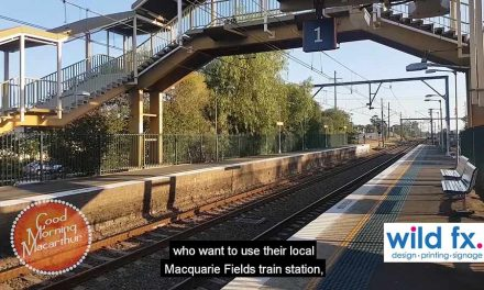 Lift for Macquarie Fields Railway Station
