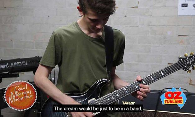 Australia's first School of Rock All Star Robbie Cotterill