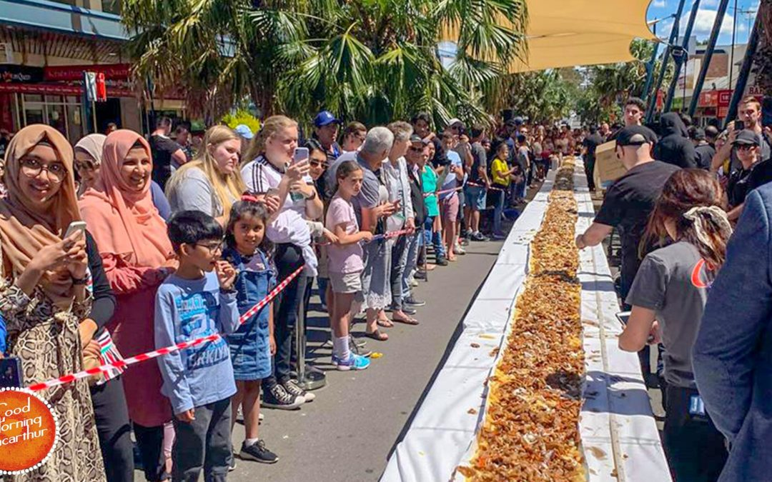 Campbelltown broke Guiness World Record for the longest halal snack pack