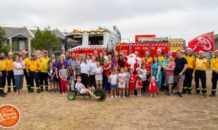 Menanagle Park Firies take Santa around