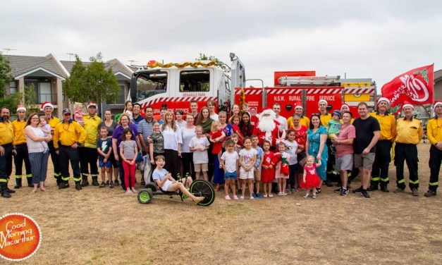 Menangle Park Firies take Santa around