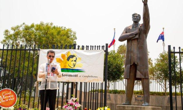 Filipino community gathers to remember Dr Jose Rizal